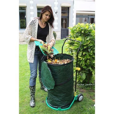 chariot poubelle de jardin ramasse feuilles pas cher