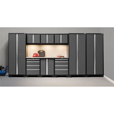 newage garage cabinets newage products bold 3 0 series 10 garage storage cabinet set with worktop reviews wayfair