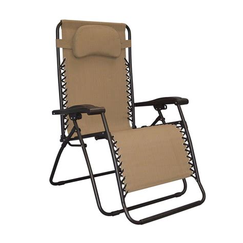 Zero Gravity Patio Chair Caravan Sports Infinity Oversized Beige Zero Gravity Patio Chair 80009500150 The Home Depot