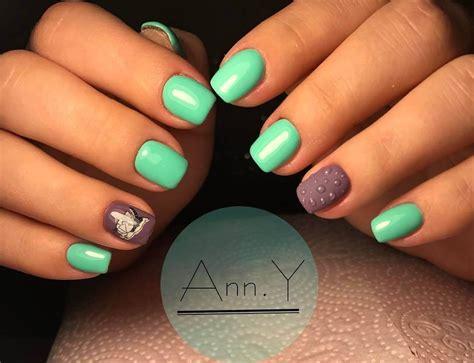 imagenes de uñas pintadas de color turqueza u 209 as decoradas color verde 130 dise 209 os