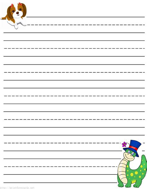 Paper With Children - primary writing paper