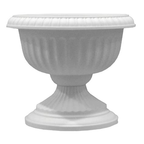 Plastic Planter Urns by 2 Novelty Mfg 38142 14 Quot White Classic Porch Urn Plastic