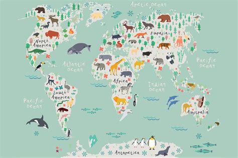 world map wallpaper safari map mural wallpaper muralswallpaper co uk