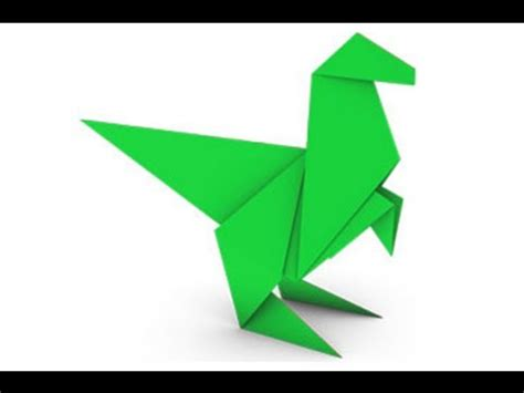 Easy Dinosaur Origami - origami dinosaur