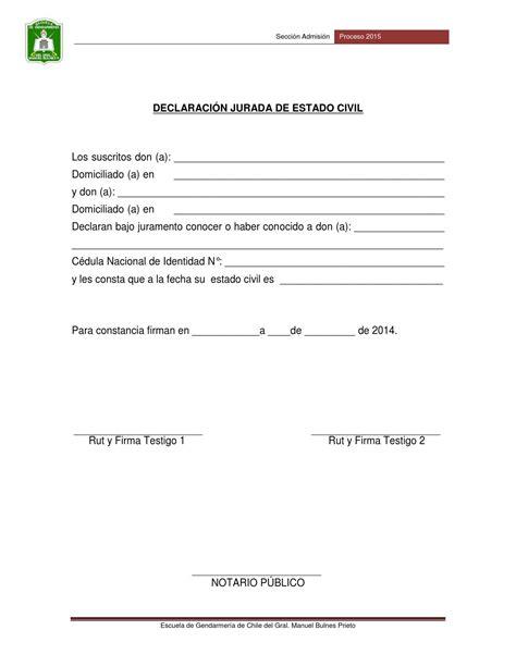 declaracin jurada para proceso de alimentos declaracion jurada estado civil proceso 2015 by