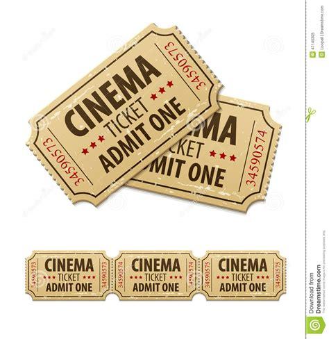 entradas price old cinema tickets for cinema stock illustration image