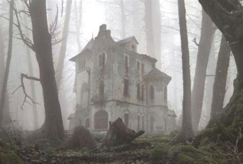 gothic victorian house in forest beautiful victorian abandoned gothic victorian house in the fog abandoned