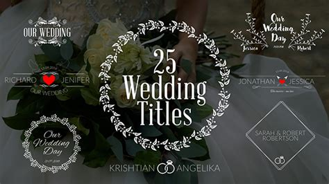 Videohive Wedding Titles 19761639 Free After Effects Template Videohive Projects Adobe Premiere Templates Wedding