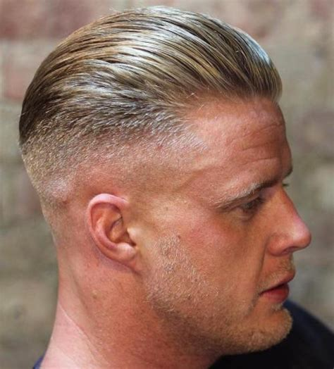 mens receding hairline hairstyles or mens slicked back 40 different military cuts for any guy to choose from