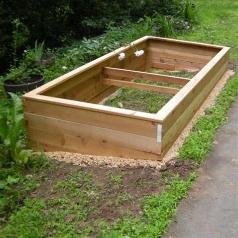 Wooden Raised Garden Bed Kits by Cedar Raised Bed Garden Kits 4 X6