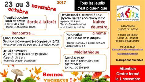 Vacances Octobre 2017 Espacejeunesse Fr Le Site De L Association Espace
