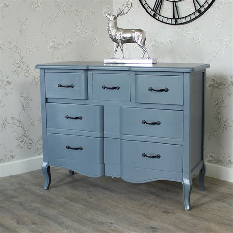 Grey Chest Of Drawers Uk by Large Grey Wooden Chest Of Drawers Shabby Vintage Chic