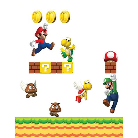 mario bros stickers wall new mario bros wall stickers nintendo uk store