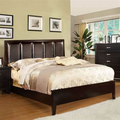 upholstered california king bed furniture of america cruzina upholstered california king