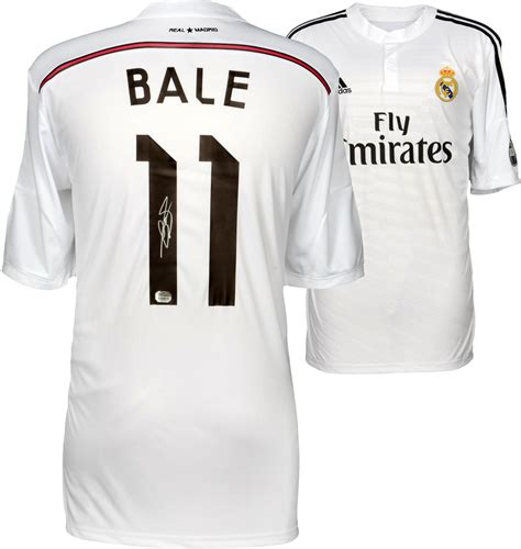 Jersey Real Madrid Hitam 201415 gareth bale signed jersey autographed jerseys