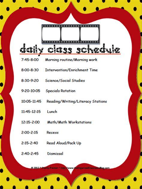 Sub Hub The Schedule Struggle Second Grade Schedule Template