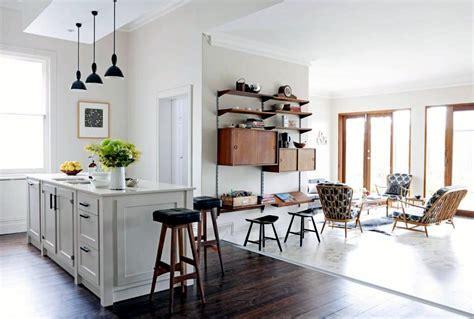 Open kitchen with adjoining room   Interior Design Ideas