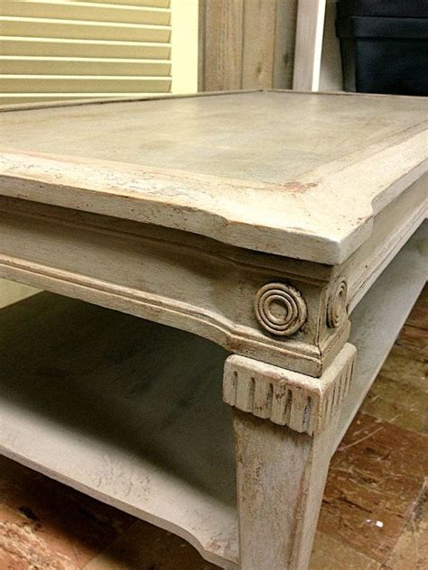 chalk paint vintage coffee table sloan linen distressed wax shabby cottage
