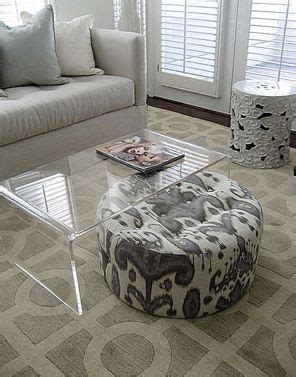 ikat ottoman coffee table ikat ottoman and lucite cocktail table by lisa sherry