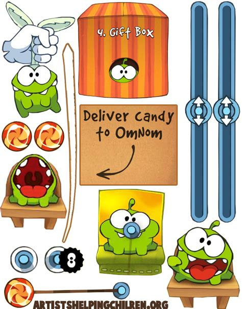 Cut The Rope Papercraft - how to make a cut the rope magnet set crafts