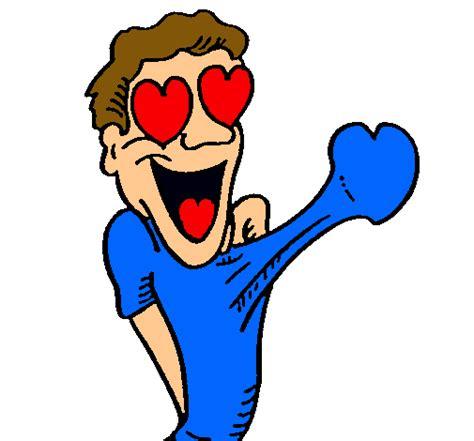 hombre de dibujos animados enamorado dibujo de chico muy enamorado pintado por htnj en dibujos