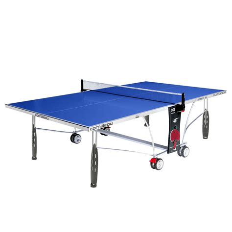 cornilleau sport 250s rollaway outdoor table tennis table