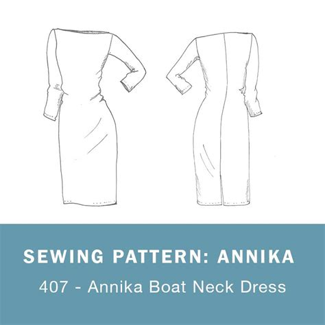 boat neck sewing pattern 407 annika boat neck dress mariadenmark sewing