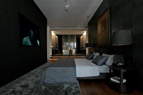 Modern Bedroom Interior Design With Black Wood Bedroom Toned Interior Design Ideas Modern Living Room Design