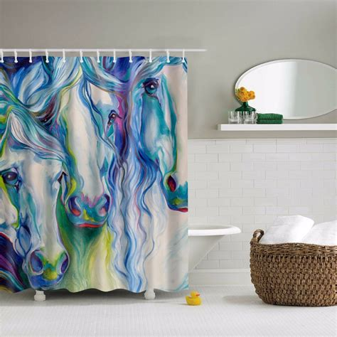 horse shower curtain online get cheap horse shower curtain aliexpress com