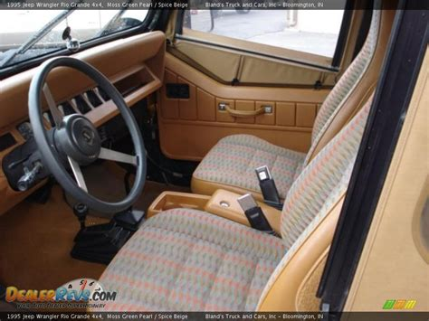 95 Jeep Interior by Spice Beige Interior 1995 Jeep Wrangler Grande 4x4