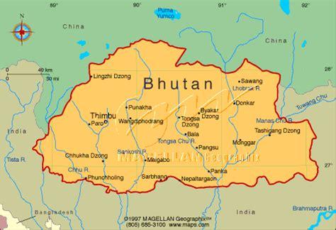 where is bhutan on a world map free bhutan maps