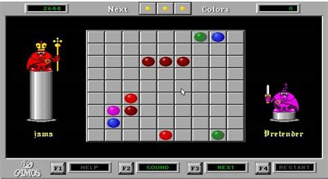 Gamis A Line color lines puzzle for dos 1992 abandonware dos
