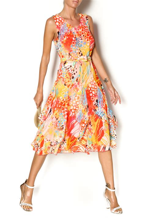 Flowyt Dress lasania coral flowy dress from worcester by paisley boutique shoptiques