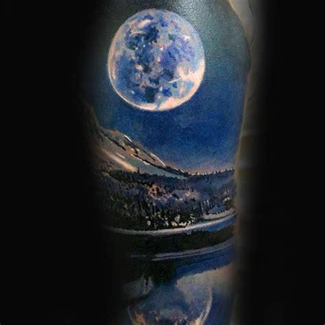 night sky tattoo designs sky with realistic moon half sleeve tattoos