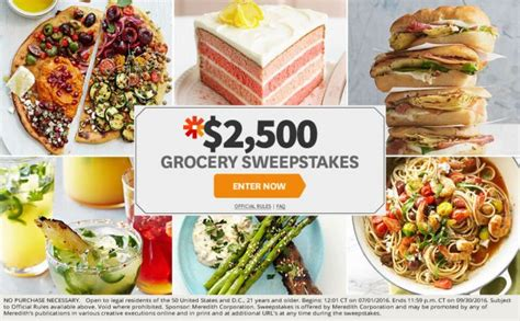 Grocery Sweepstakes - can you get through these bhg sweepstakes without entering a single one