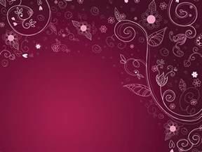 vintage floral vector image ppt backgrounds design flowers pink purple templates ppt grounds