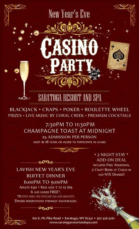 new year dinner flyer new year s casino 2 stay