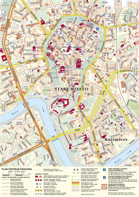 Large Krakow Maps For Free Download And Print High