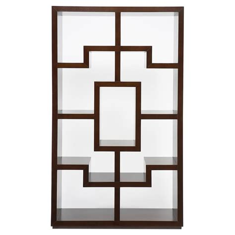 obsie modern classic geometric warm chestnut bookcase