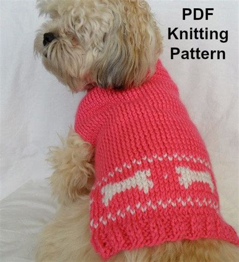 free download pattern for dog coat cute dog sweater knitting pattern pdf small dog sweater