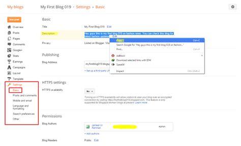 blogger description create blog title and description seo seo part 1