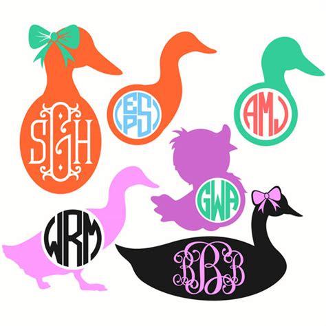 monogram rubber st duck monogram svg cuttable designs