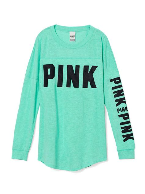 design a varsity crew shirt open back varsity crew tee pink from victoria s secret