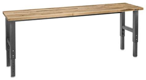 Gladiator Table by Gladiator Gawb08mtzg 8 Adjustable Height Maple Work