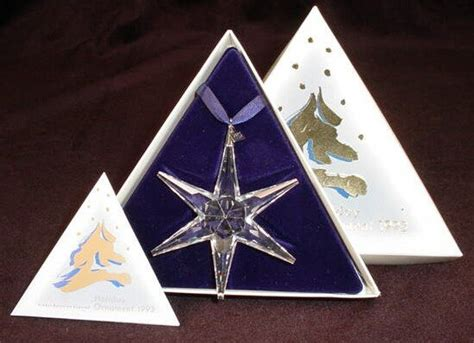 618 1993 swarovski christmas star ornament original b