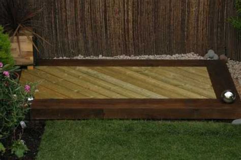 Staining Railway Sleepers by Chris Louise Lansdown S Decking Project With Railway