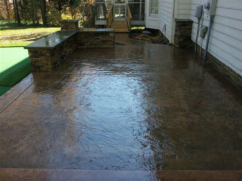 poured concrete patio concrete designs concord nc 28027 angies list