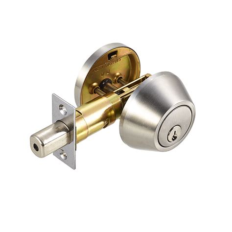 Door Knob With Deadbolt Built In by Citadelle Single Cylinder Deadbolt Satin Nickel