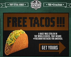 Taco Bell Stolen Base Giveaway - taco bell free tacos today october 30 drugstore divas