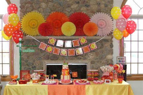 2nd birthday decorations at home cami s elmo inspired 2nd birthday party project nursery